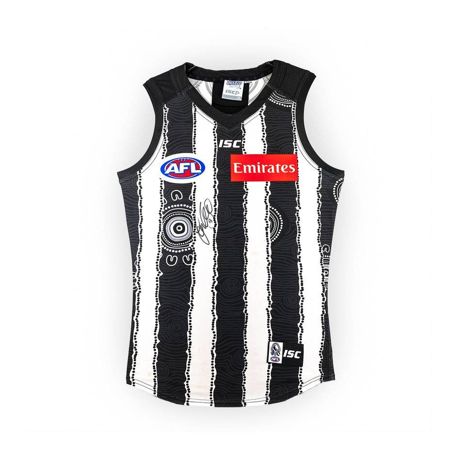 mainTaylor Adams Signed Match-Worn Guernsey - Indigenous0