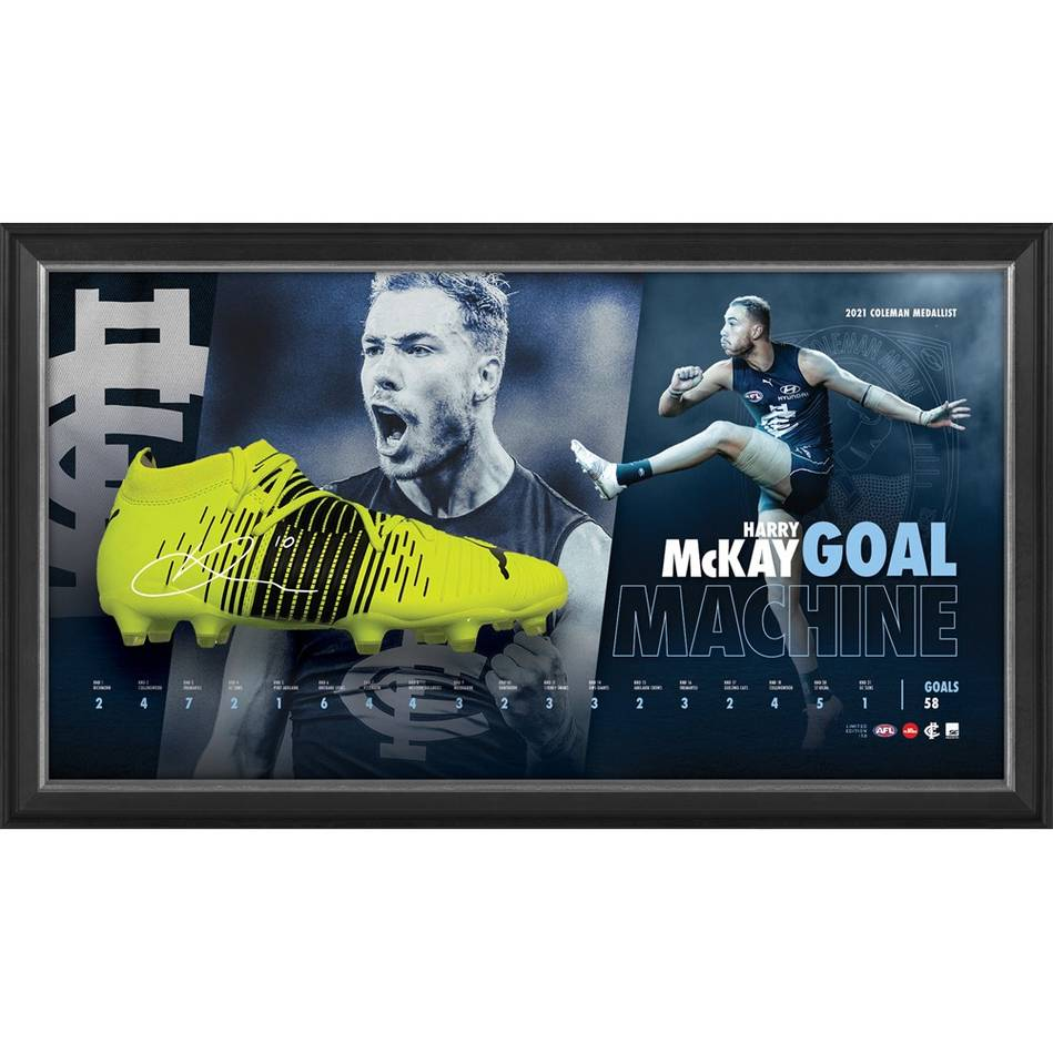 Harry McKay Signed Boot Display0