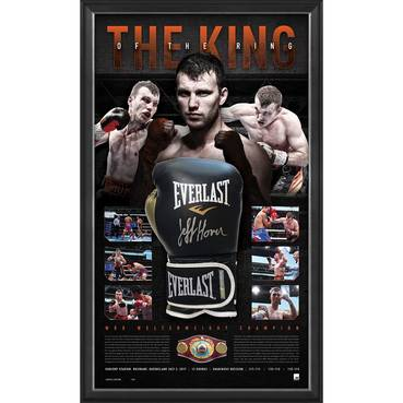 JEFF HORN SIGNED 'THE KING OF THE RING'
