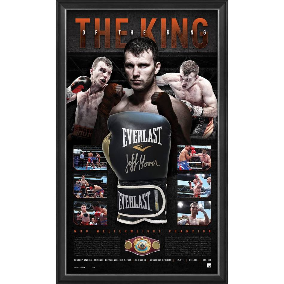 JEFF HORN SIGNED 'THE KING OF THE RING'0