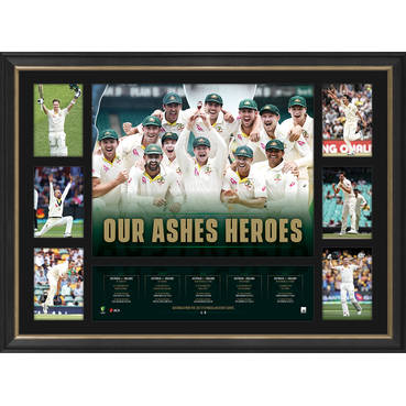 'OUR ASHES HEROES' ASHES TRIBUTE FRAME
