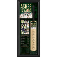'ASHES TO ASHES' SIGNED BAT DISPLAY0
