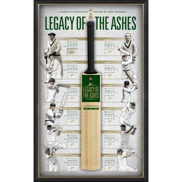 'LEGACY OF THE ASHES' SIGNED BAT DISPLAY