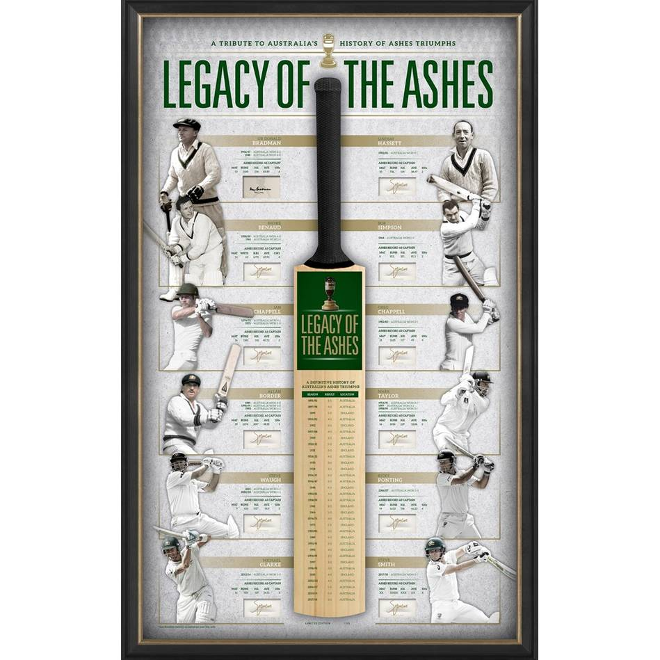 main'LEGACY OF THE ASHES' SIGNED BAT DISPLAY0