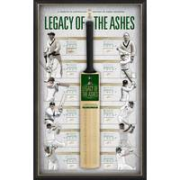 'LEGACY OF THE ASHES' SIGNED BAT DISPLAY0