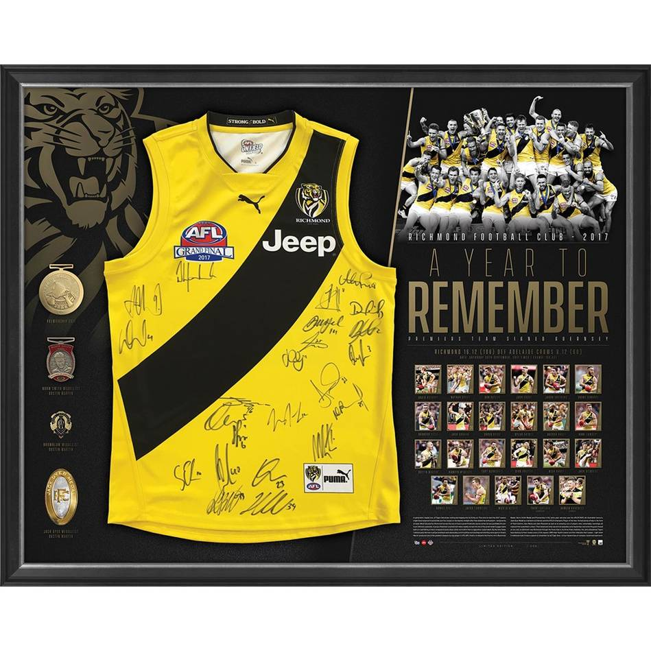 mainRICHMOND 2017 PREMIERS TEAM SIGNED 'A YEAR TO REMEMBER'0