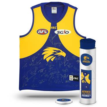 WEST COAST EAGLES 2018 TEAM SIGNED GUERNSEY IN COLLECTORS TIN