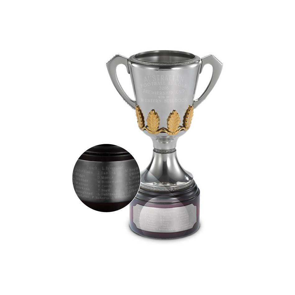 mainWESTERN BULLDOGS VFL/AFL REPLICA PREMIERSHIP CUP0