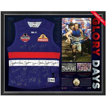 WESTERN BULLDOGS 1954 & 2016 SIGNED 'GLORY DAYS'