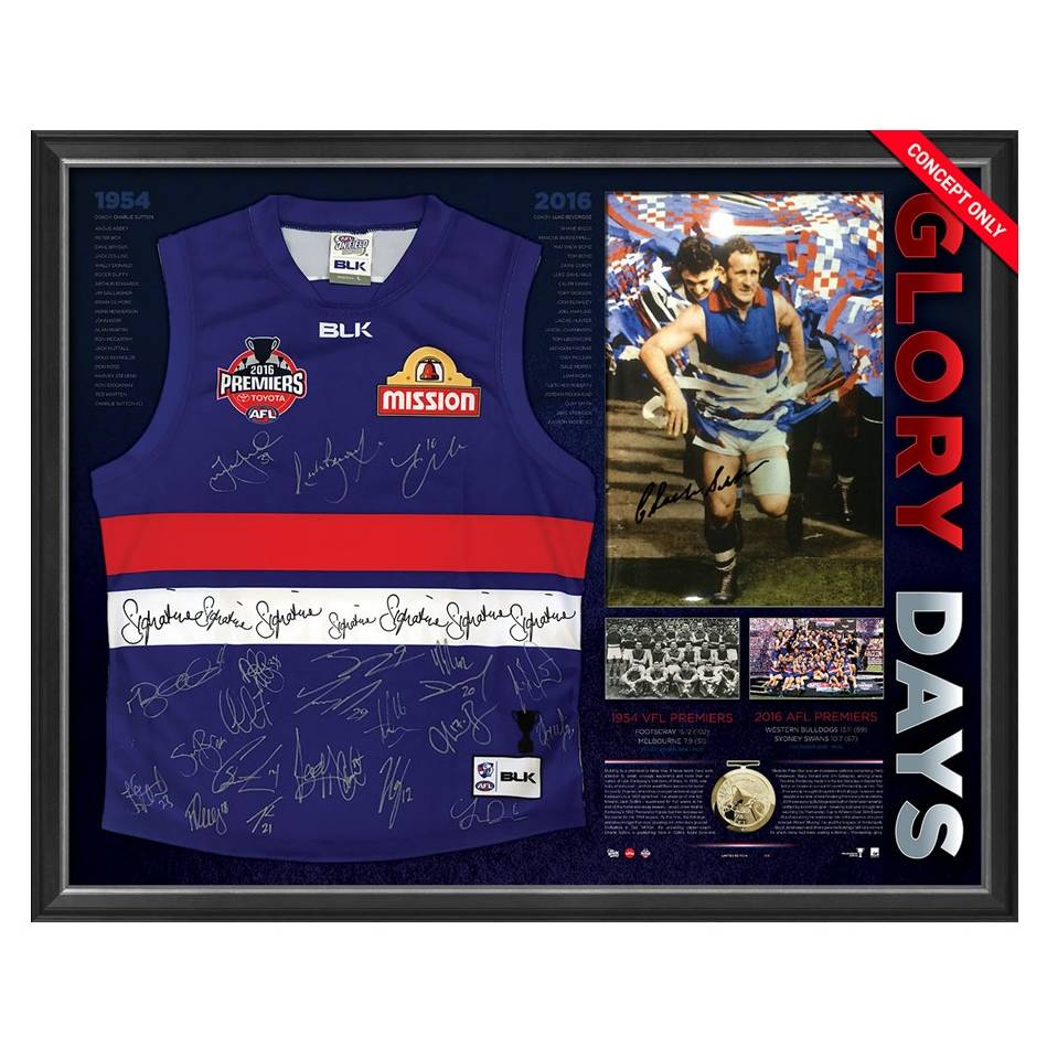 mainWESTERN BULLDOGS 1954 & 2016 SIGNED 'GLORY DAYS'0