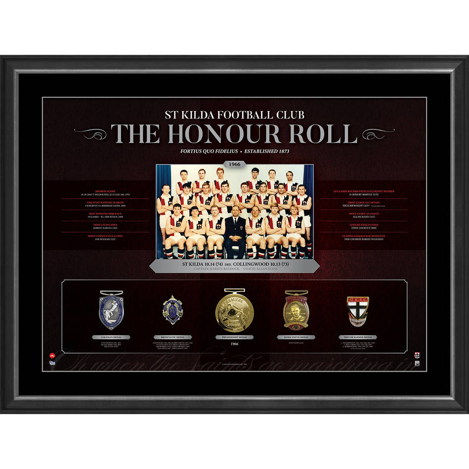 mainST KILDA FOOTBALL CLUB 'THE HONOUR ROLL'0