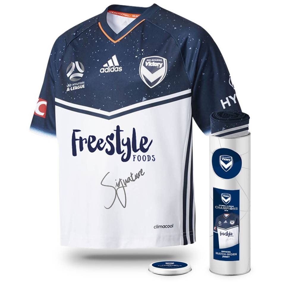 mainMelbourne Victory Hyundai A-League 2018 Champions Signed Match-Worn Jersey – James Troisi0