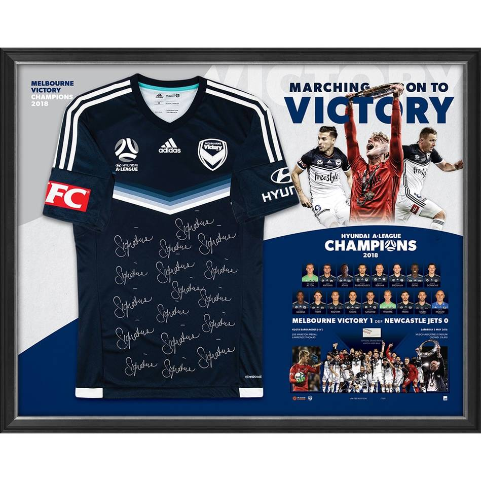 mainMelbourne Victory  Hyundai A-League 2018 Champions Team Signed Jersey0