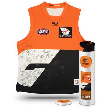 GWS GIANTS 2018 TEAM SIGNED GUERNSEY IN COLLECTORS TIN