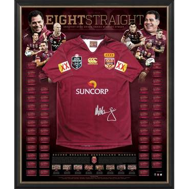 Queensland Maroons Signed Jersey 'Eight Straight'