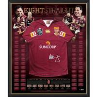 Queensland Maroons Signed Jersey 'Eight Straight'0