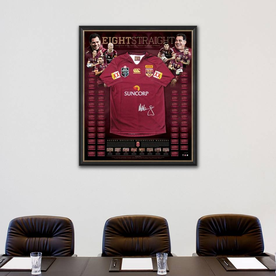 mainQueensland Maroons Signed Jersey 'Eight Straight'1