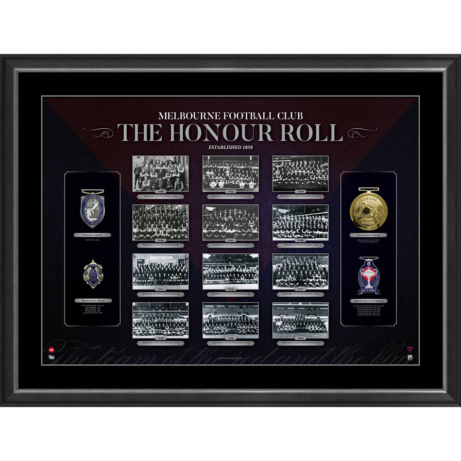 mainMELBOURNE FOOTBALL CLUB 'THE HONOUR ROLL'0