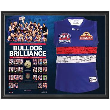 WESTERN BULLDOGS TEAM SIGNED PREMIERS GUERNSEY 'BULLDOG BRILLIANCE'
